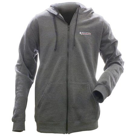 Allstar Performance ALL99917S Full Zip Hooded Sweatshirt, Charcoal - Small - image 1 of 1