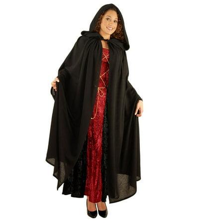 Halloween Peasant Cloak Adult Costume](Brown Hooded Cloak)