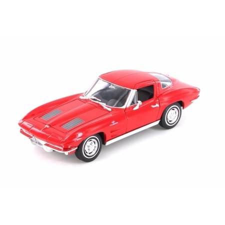 - 1963 Chevy Corvette Hard Top, Red - Welly 24073/4D - 1/24 scale Diecast Model Toy Car (Brand New but NO BOX)