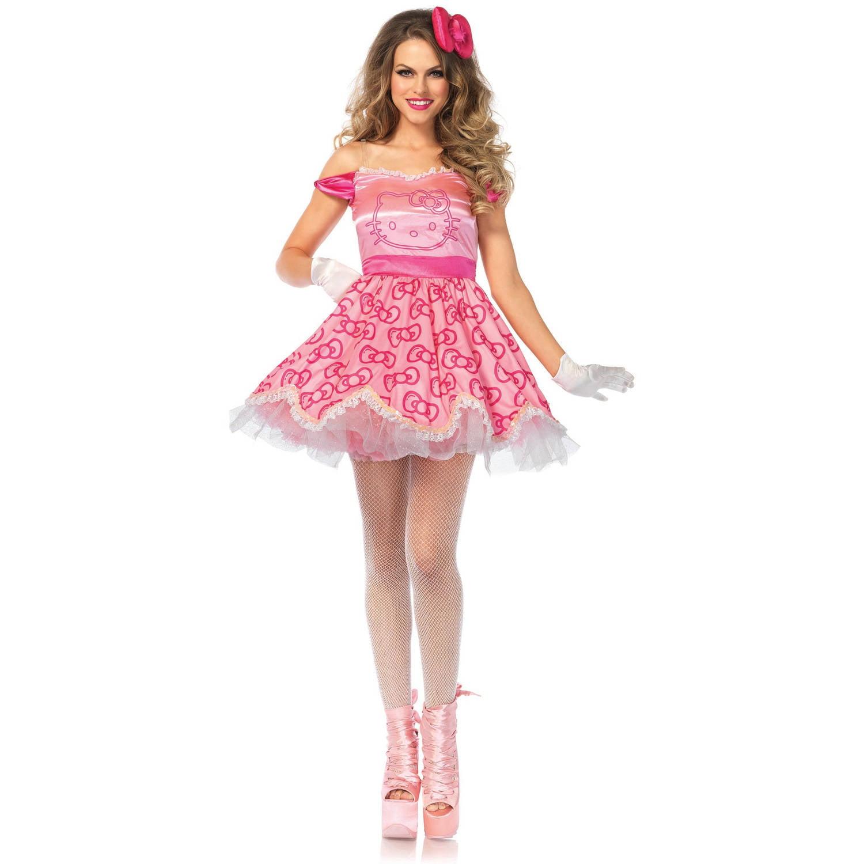 Leg Avenue Adult Pretty Pink Hello Kitty 2-Piece Costume - Walmart.com de85bdeaeb