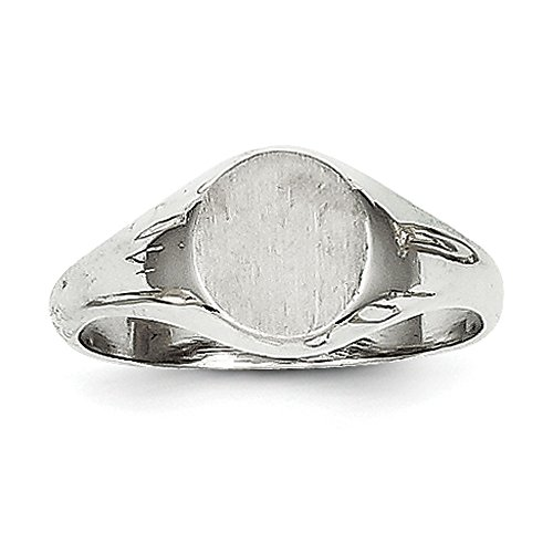 Baby and Children 14K Gold Signet Ring (white-gold)
