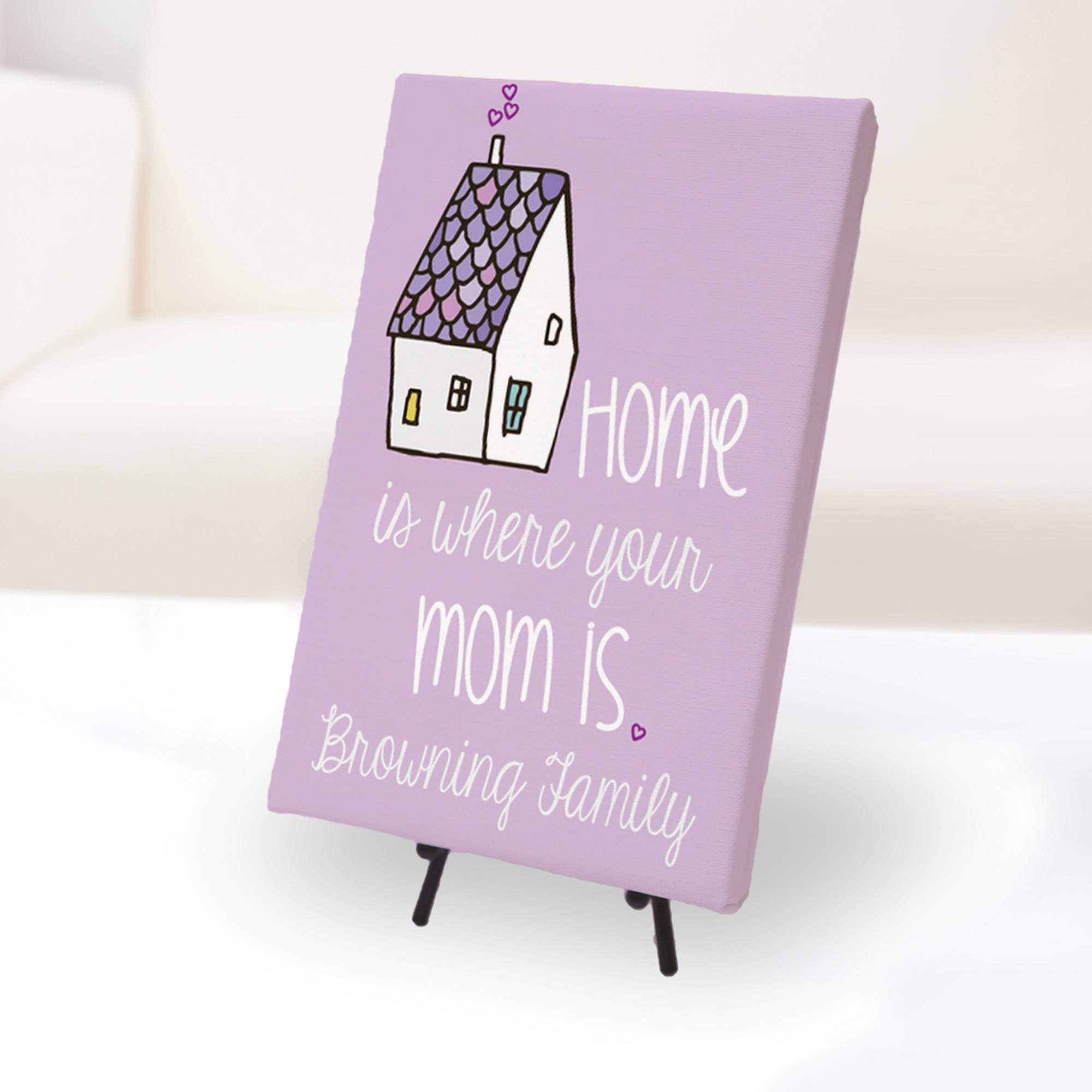 "Home Is Where Your Mom Is Custom Canvas Print, 10"" x 9.7"""