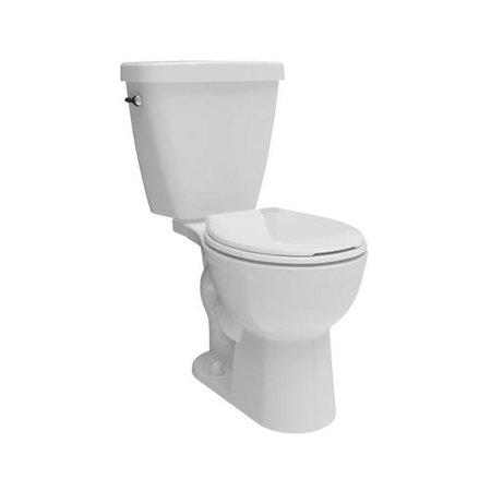 Delta Faucet C41101-WH Prelude Toilet Kit, Low-Flow, Round-Front, White Vitreous China, 2-Pc.