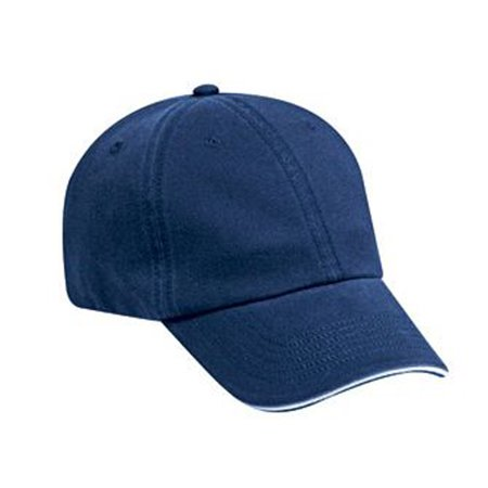 Otto Cap Superior Garment Washed Cotton Twill Sandwich Visor Low Profile Style Caps - Hat / Cap for Summer, Sports, Picnic, Casual wear and Reunion (Cotton Washed Twill Sandwich)