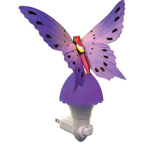 Fiber Butterfly Night Light, Purple