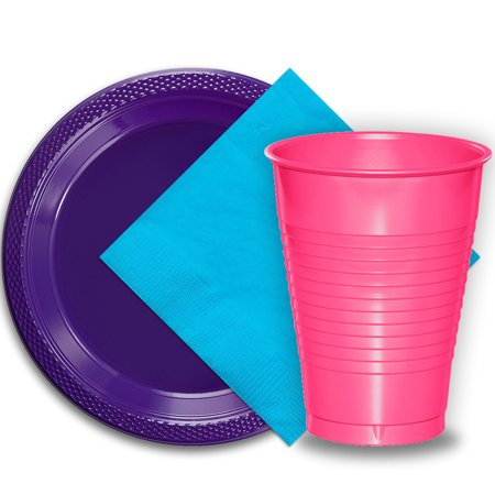 50 Purple Plastic Plates (9