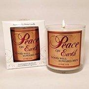 """Candle-Orange Spice-Peace On Earth (3"""")"""