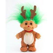 My Lucky Reindeer Troll Doll Green Hair By Russ Berrie