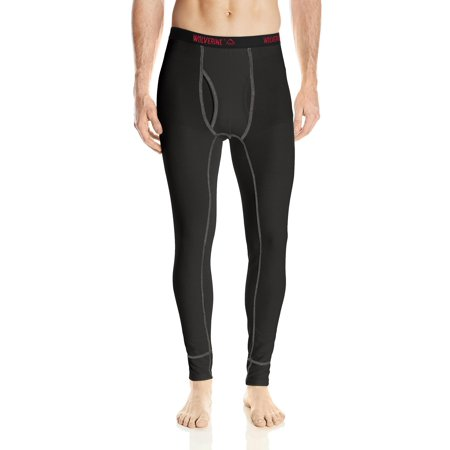 Tech Pants - Wolverine Men's Tech Grid Performance Baselayer Pant, Black, Size: Small
