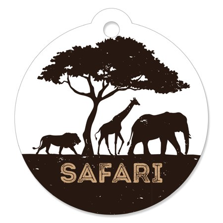 Wild Safari - African Jungle Adventure Birthday Party or Baby Shower Favor Gift Tags (Set of 20)