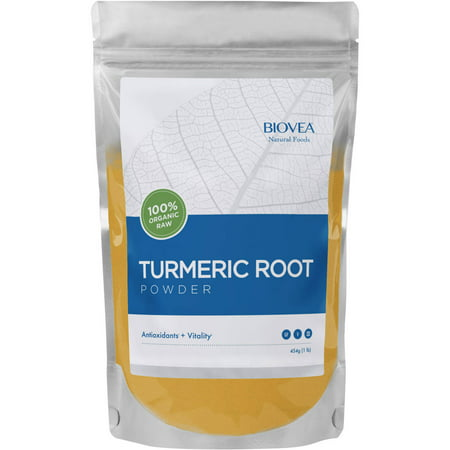 BIOVEA 100% Organic Raw Turmeric Root Powder, 16 oz
