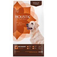 Holistic Select Natural Grain Free Dry Dog Food, Weight Management Chicken Meal & Peas Recipe, 24-Pound Bag