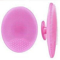 Super Soft Silicone Face Cleanser and Massager Brush Manual Facial Cleansing Brush Handheld Mat Scrubber For Sensitive, Delicate, Dry Skin