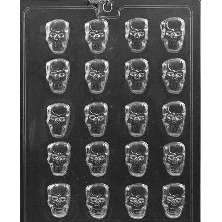 Grandmama's Goodies H175 B/S Skull Halloween Chocolate Candy Soap Mold with Exclusive Molding Instructions](Jello Jiggler Molds Halloween)