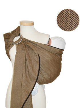 Storchenwiege Leo Cafe Ring Sling by Storchenwiege