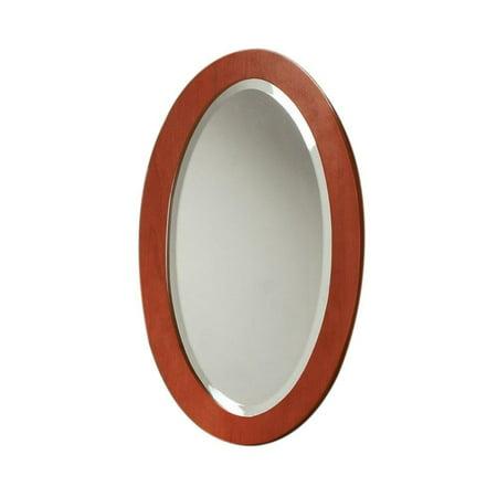 """DecoLav 250048-2 16"""" Casaya Framed Small Mirror, Cherry"""