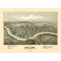 Phillippi West Virginia - Fowler 1897 - 23 x 31.48