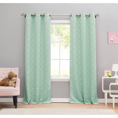 Kelly 38 in. W x 84 in. L Polyester Window Panel in Seafoam (2 pieces)