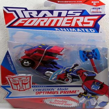 Transformers Animated Deluxe Action Figure - Autobot Leader Cybertron Mode Optimus Prime ()