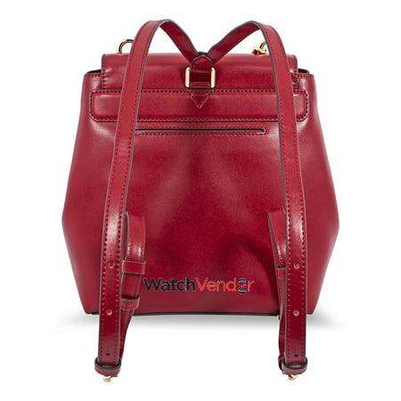 8e3fd101f4b5 Michael Kors Mott Leather Backpack- Maroon - image 1 of 4 ...