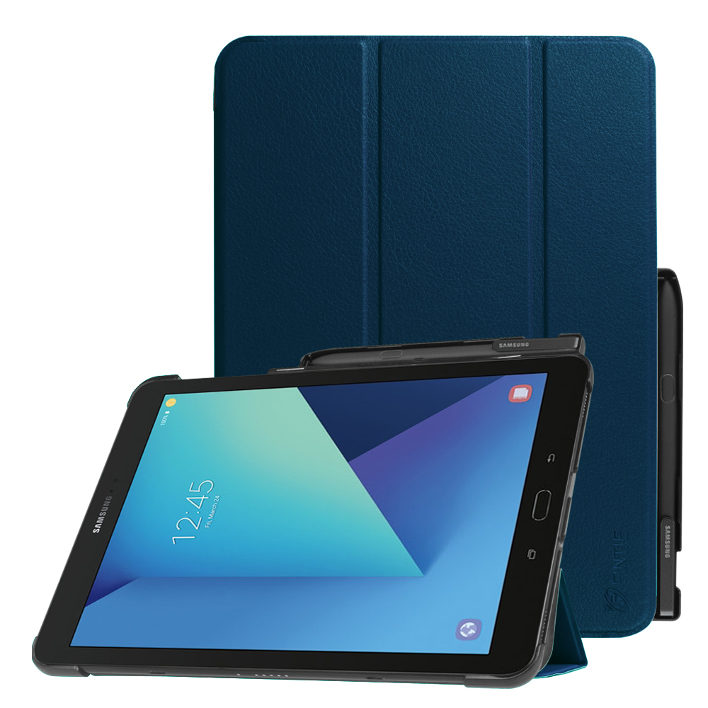 For Samsung Galaxy Tab S3 9.7 Case Slim Shell Standing Cover w/ S Pen Protective Holder (SM-T820/T825) Navy