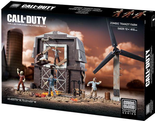 Mega Bloks Call of Duty Zombies Tranzit Building Set 06828 415 Piece by Mega Brands