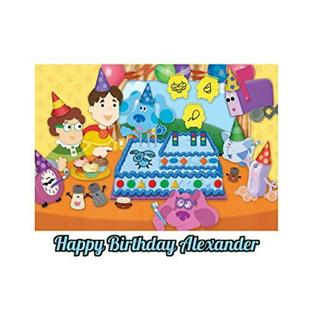 Blues Clues Cupcakes (Blues Clues Edible Image Photo Cake Topper Sheet Personalized Custom Customized Birthday Party - 1/4 Sheet - 78721)