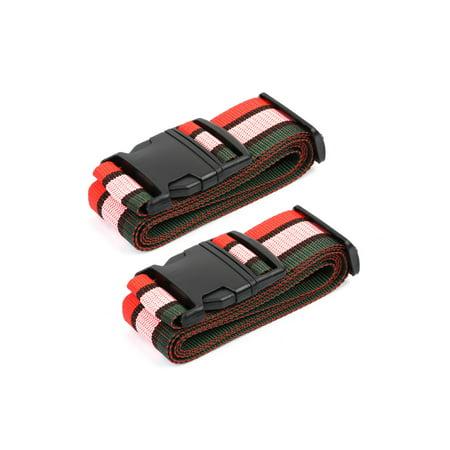 Unique Bargains 2pcs Adjustable Luggage Suitcase Strap Baggage Backpack Bag Travel Bags Belt