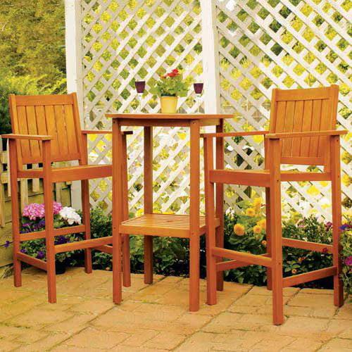 Eucalyptus Bar Table and Chairs