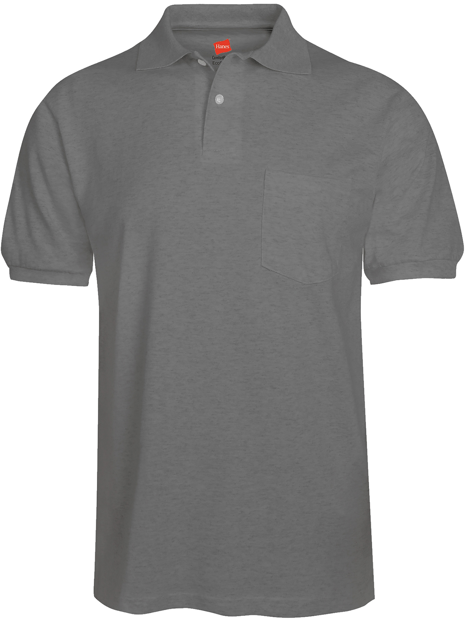 Hanes Mens Comfortblend Ecosmart Jersey Polo With Pocket