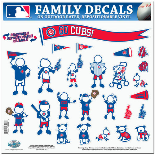 MLB - Chicago Cubs Family Decals Large Package
