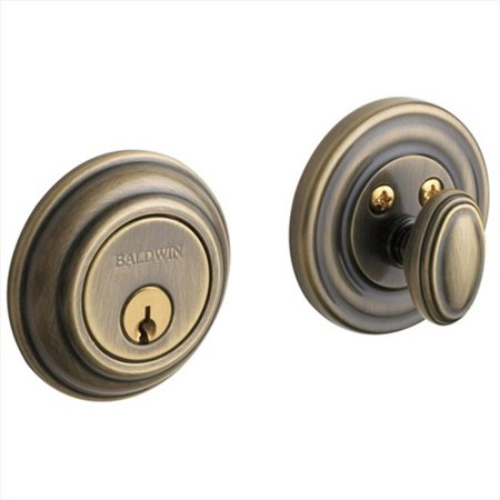 - Baldwin Hardware 8231.05 Traditional Deadbolt Single Cylinder in Satin Brass and Black
