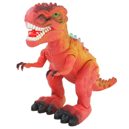 Walking T Rex Dinosaur, Tyrannosaurus Rex, with Many Lights & Loud Roar Sounds, Toy Dinosaur, Electronic Toy Dinosaur, Amazing Moving Toy Dinosaur, Toy Dinosaurs, Fun Roaring Realistic Movements - T Rex Model
