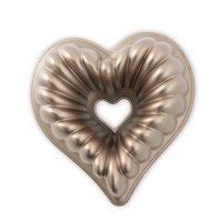 "Nordic Ware Elegant Heart Bundt®, Cast Aluminum, Lifetime Warranty, 10 Cup, 11"" X 10.44"" X 3.88"""