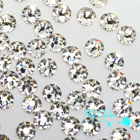 CRYSTAL (001) clear Swarovski NEW 2088 XIRIUS Rose 20ss 5mm flatback No-Hotfix rhinestones ss20 144 pcs (1 gross) *FREE Shipping from Mychobos - Lourdes Swarovski Crystal
