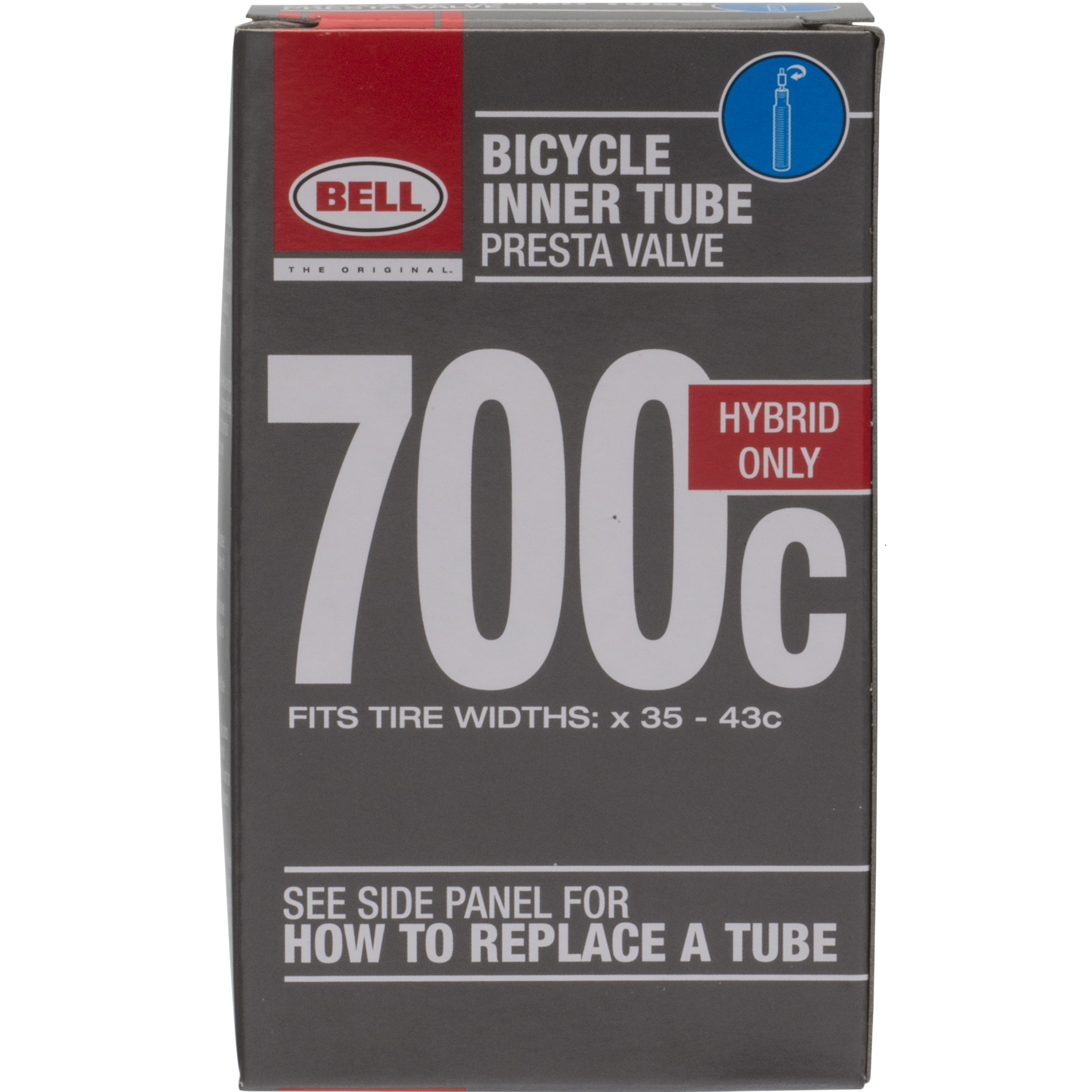 SUNLITE STANDARD 700 x 35-43  48mm SCHRADER VALVE BICYCLE TUBE
