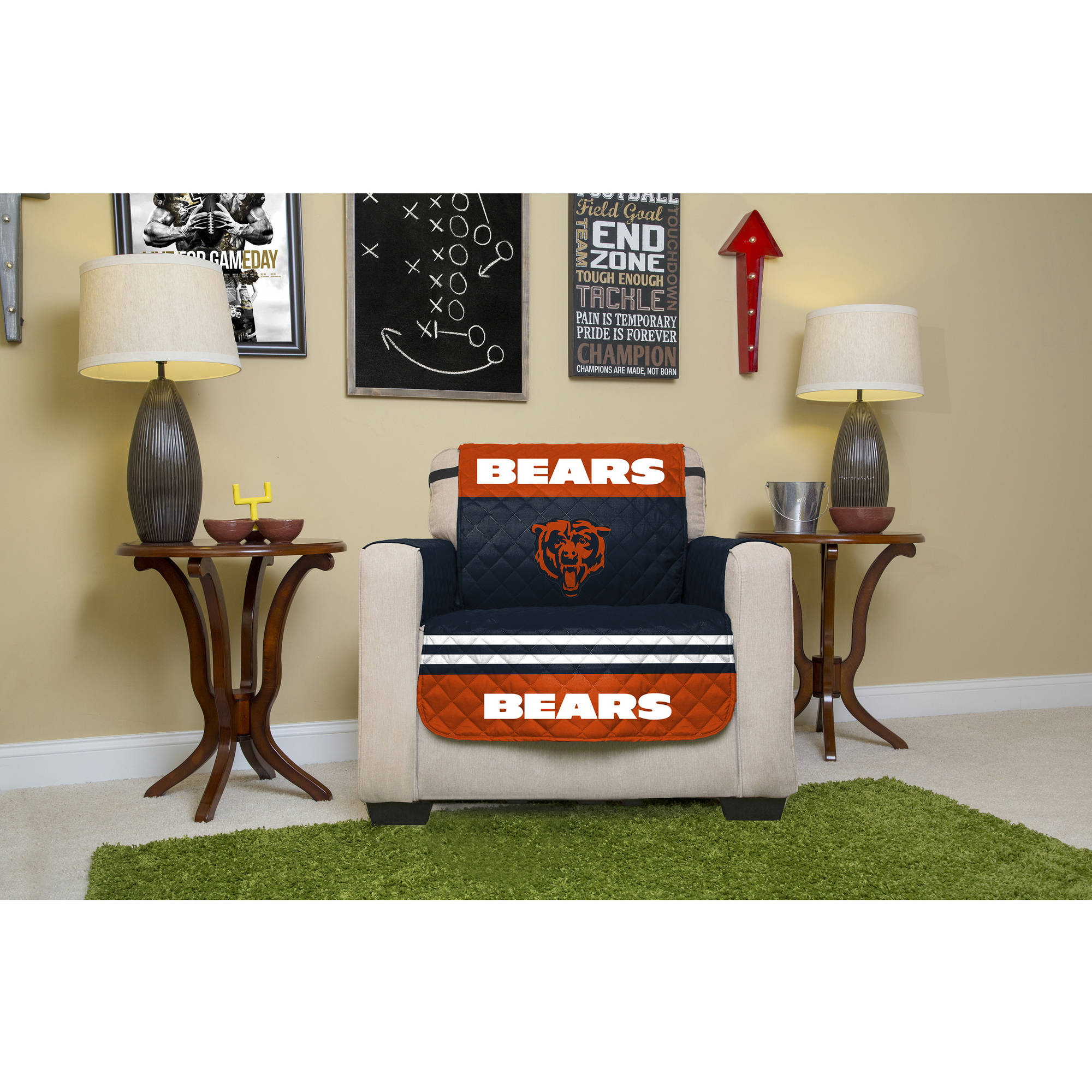 NFL Licensed Furniture Protector, Chair, Chicago Bears