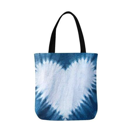 HATIART Heart Tie Dye Pattern Reusable Grocery Bags Shopping Bag Canvas Tote Bag Shoulder Bag - image 3 of 3
