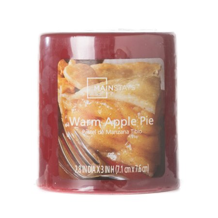 - Mainstays Warm Apple Pie Pillar 3in