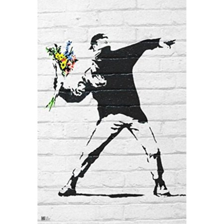 Flower Bomber by Banksy (Reproduction) 24