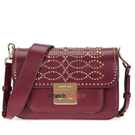 d0e06c25c9d17 Michael Kors Sloan Studded Leather Shoulder Bag - Oxblood - image 1 of 1 ...