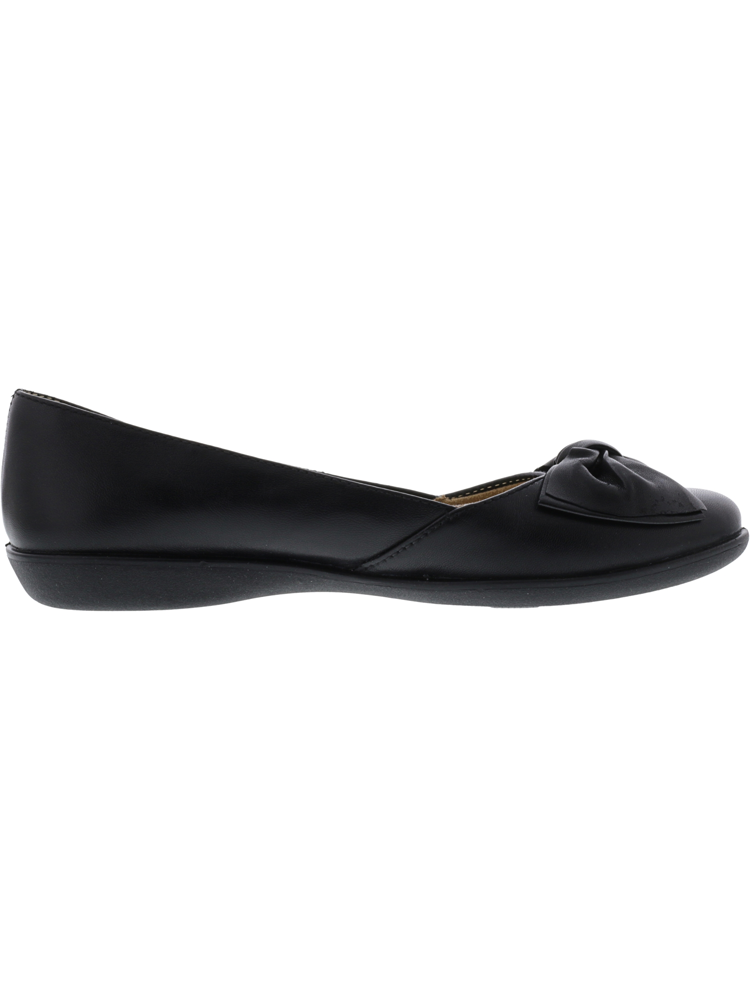 f304f7836 Naturalizer - Naturalizer Women's Flora Leather Black Flat Shoe - 9M -  Walmart.com