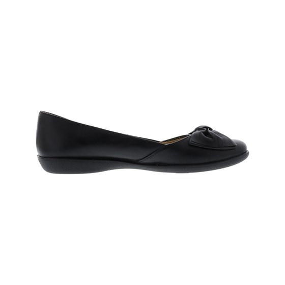 f9a6d1bf7 Naturalizer - Naturalizer Women's Flora Leather Black Flat Shoe - 9M ...