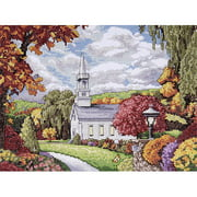 "Tobin Fall Inspiration Counted Cross-Stitch Kit, 9"" x 12"", 14 Count"