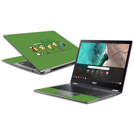 Skin For Acer Chromebook Spin 13 (2018) - Casual Friday Bee | MightySkins Protective, Durable, and Unique Vinyl Decal wrap cover | Easy To Apply, Remove, and Change Styles