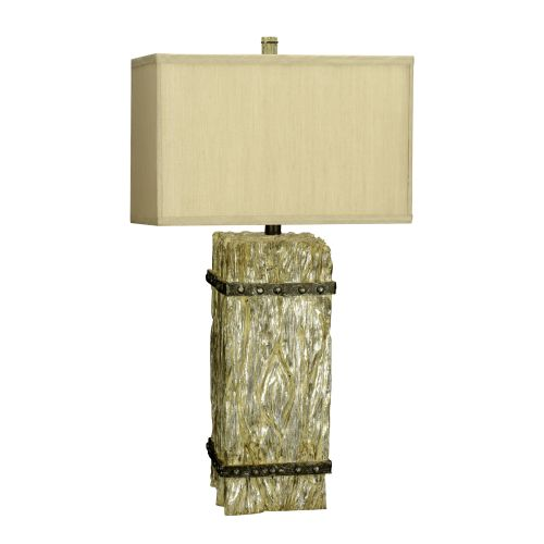"Cal Lighting BO-2016 150 Watt 30.75"" ""Timber Post"" Resin Table Lamp with 3-Way S by CAL Lighting"