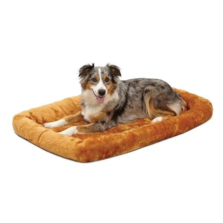 MidWest Deluxe Bolster Pet Bed for Dogs & Cats ()