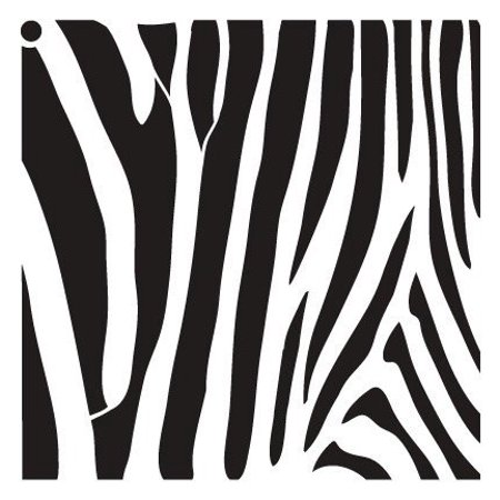 Zebra Stripes Stencil by StudioR12 | Fun Wild Animal Pattern Art - Small 6 x 6-inch Reusable Mylar Template | Painting, Chalk, Mixed Media | Use for Journaling, DIY Home Decor - STCL633_1