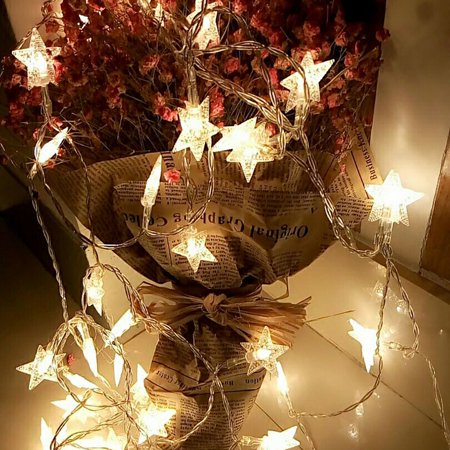 BeautyTale-20 LED Five-Pointed Star String Christmas LED String Lights Lamp  Corded- - BeautyTale-20 LED Five-Pointed Star String Christmas LED String
