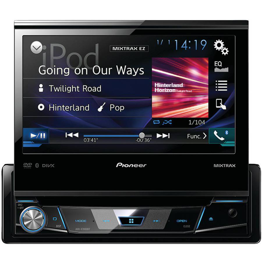 Pioneer AVH-X7800BT Single-DIN In-Dash DVD Receiver/Flip Out Display BT Siri 7""